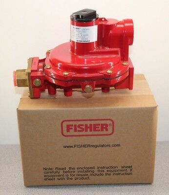 """New Emerson Fisher First Stage LP Gas Regulator 1/2"""" 8-12"""" WC 7/32"""" R622H-HGJ"""