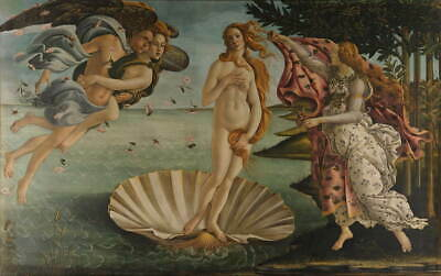 Sandro Botticelli The Birth of Venus Giclee Canvas Print Poster LARGE SIZE