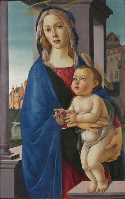 Sandro Botticelli The Virgin and Child Giclee Canvas Print Poster LARGE SIZE