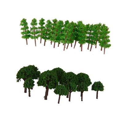 150x Mini Green Model Trees for Layout Z Scale for Park Garden Street Layout
