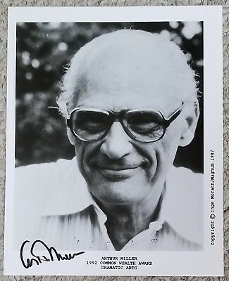 Playwright Arthur Miller Autographed 8 x 10 Photo Signed AUTO Marilyn Monroe
