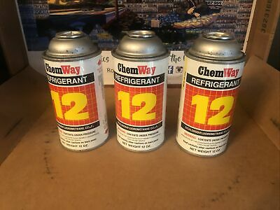 R-12 Refrigerant (3) Sercon Usa made genuine   R12 12oz  Cans