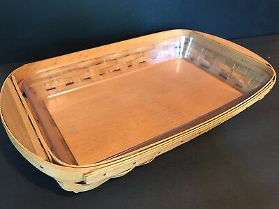 Longaberger Serve It Up Small Tray Serving basket with heavy duty liner