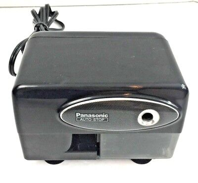 Panasonic Vintage Auto Stop Electric Pencil Sharpener KP-310 Black Desktop