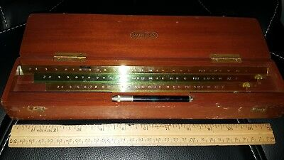 Wrico Lettering Guide Set In Original Wooden Case Patented 1926 Look! Wow!