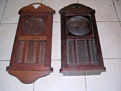 Clock  Parts ,  2  Oak   Wall Clock Cases