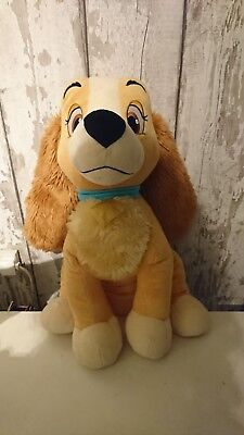 "Lady from lady and the tramp guant 22"" plush disney store exclusive"