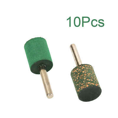 10Pcs Cylinder Rubber Mounted Point Grinding Head 6MM Shank For Mould Polishing