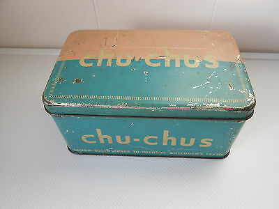 Collectable And Rare Chu-Chus Rusk Pink And BlueTin