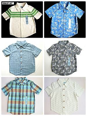 Baby Gap Boys Toddlers Button Down Cotton & Cotton/linen Shirts