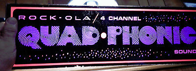 NOS Rock-Ola 4 Channel Quad Phonic Sound Jukebox Replacement Glass