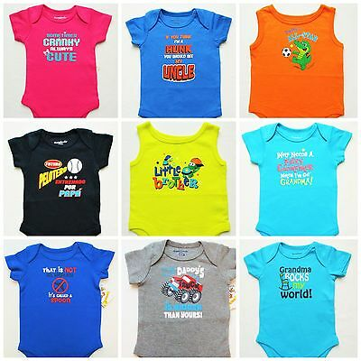 Baby Infant Newborn NEW T-shirt snap tees humour Girls boys