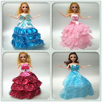 EP_ 5Pcs Princess Dresses Outfits Party Wedding Clothes for Barbie Doll 15'' Eye