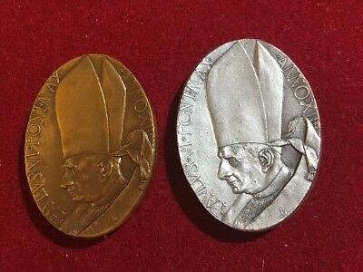 Vatican City medals silver and bronze mint in box