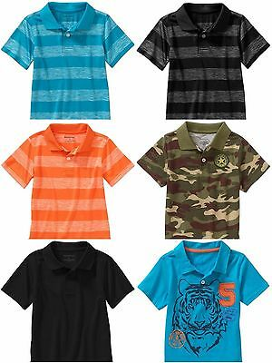 Infant Toddler boys short sleeve polo top shirt Black Camo Green 2T 3T 4T 5T