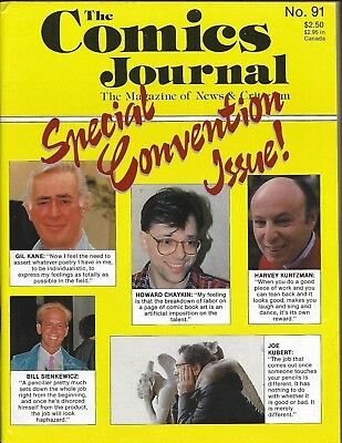 THE COMICS JOURNAL No 91 VF/NM 1984 Fantagraphics Special Convention Issue!!