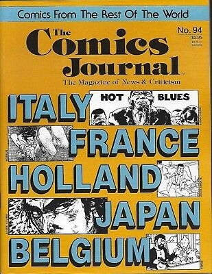 THE COMICS JOURNAL No 94 VF/NM 1984 Fantagraphics Rest of the world comics!