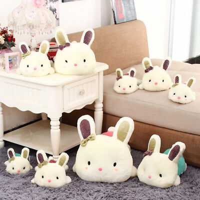 EP_ Rabbit Doll Birthday Gift Smooth Animal Bolster Kids Toy Home Store Decor Gl