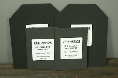 10mm Trauma Pads Backers 10x12 and 6x8 Pads For AR500 Steel Body Armor Plates