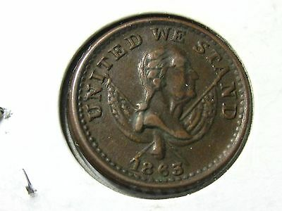 1863, United We Stand,  Washington Bust..  Our Country.