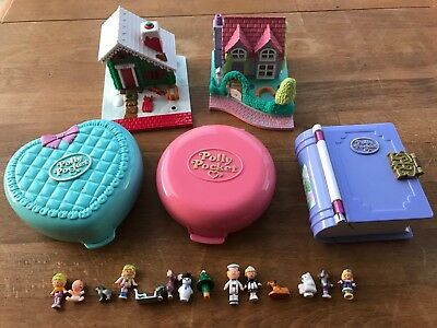 Vintage Polly Pocket Bundle With Figures