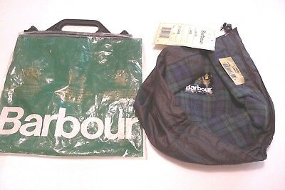 Barbour-  A114 Waxed Cotton Hood- Black-Made In England-New Old Stock-Large