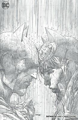 Batman #50 ~ Jim Lee Sketch Cover ~ 1:100 Variant ~ Batman Catwoman Wedding