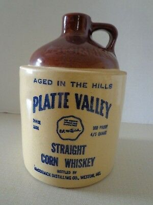 Vintage McCormick Platte Valley Corn Whiskey Jug 135-53 11-D-16 4/5 Quart