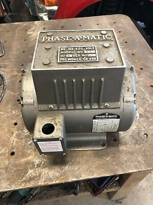 PHASE-A-MATIC R-3 Phase Converter 3 HP 208-240 V