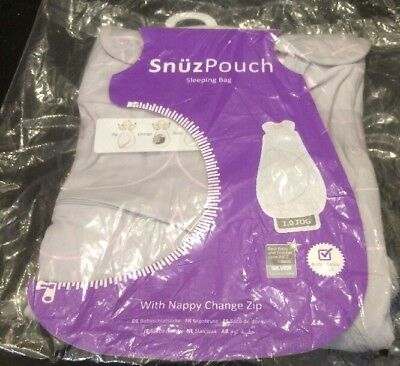 Snuz SNUZPOUCH SLEEPING BAG 1.0 TOG (6-18M) - WAVE ROSE Baby  BN