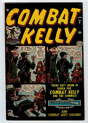 Combat Kelly #9 5.5 Atlas 1953 Off-White Pages