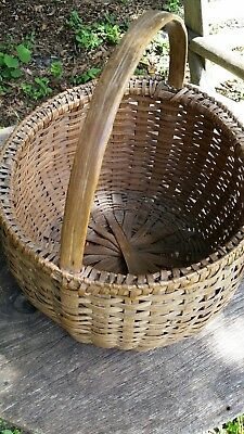 Beautiful antique basket, unusual shape and top rim...SHAKER?  Awesome condition