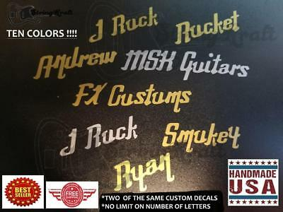 Fibson Style Lettering Headstock Decal. Customize to Your Brand. Premium Vinyl
