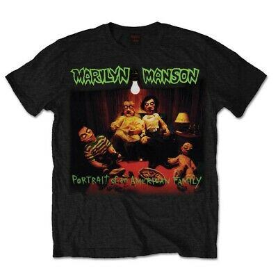 Marilyn Manson Portrait of an American Family Official Tee T-Shirt Mens Unisex