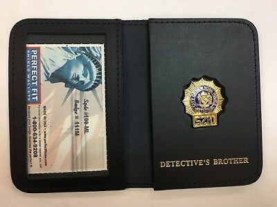 Perfect Fit New York/NJ NY Detective Officer Mini Badge ID Wallet #100 BROTHER