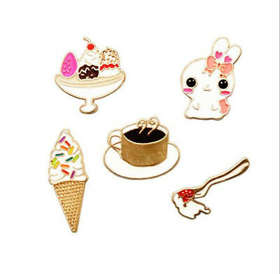 1PC Cartoon Spoof Metal Alloy Material Drop Brooch Bags Clothes Badges Jewelry
