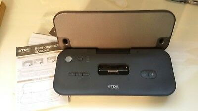 """TDK """"Life On Record"""" Rechargable Portable Speakers IPod Dock"""
