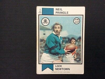 Rugby League Neil Pringle 1974 Scanlens