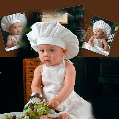Cute Baby Boy Girl Cook Chef Photo Props Costume Photography Clothing Set White