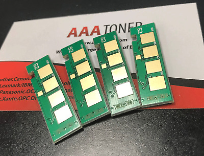 4 x Toner Reset Chip  for Samsung Xpress C460FW, C410W, CLP-365W Refill