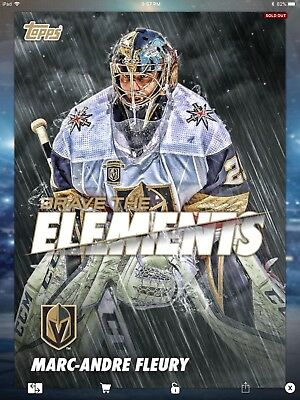 2018 Topps Skate Brave the Elements BTE Marc Andre Fleury Vegas Knights 50CC