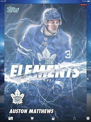 2018 Topps Skate Brave the Elements BTE Auston Matthews Toronto Maple Leafs 50CC