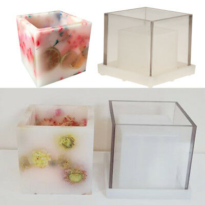 Square Tube Shape Candle Making Mould Mold for DIY Scented Candle Containers