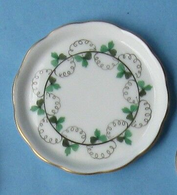 HEREND China PE PERSIL PARSLEY Green Garland Vintage Porcelain BUTTER PAT TRAY