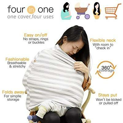 Carseat Canopy,Baby Car Seat Shopping Cart Cover Nursing & Breastfeeding Cover
