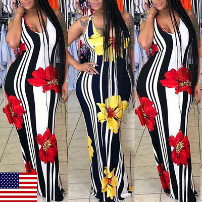US Women Summer Bodycon Dress Sleeveless Bandage Strenchy Stand Collar Plus Size