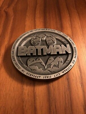 Batman First Appearance Commemorative Pewter Paperweight Detective Comics #27