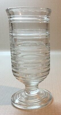 Avon Reproduction of Manhattan Depression Glass Clear with rings 6 oz. Juice