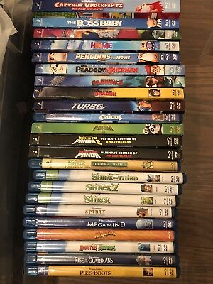 Lot Of 25 Dreamworks Animation Movies Complete Collection Blu-ray DVD Kids Shrek