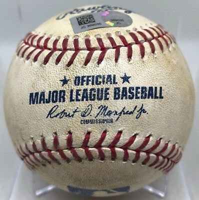 Mitch Haniger 1B Career Hit #61 + Cano K Game-Used  Baseball 6/17/2017 Mariners
